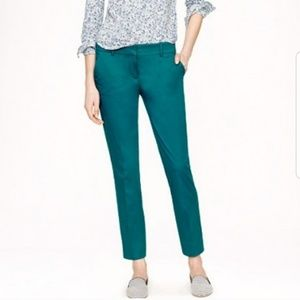 J. Crew Pants - J. Crew Cape Capri Ankle Pants Peacock Women Sz 2